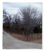 A Country Driveway Near The Brazos River Fleece Blanket