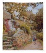A Country Lane Fleece Blanket