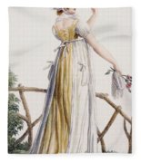 A Country Style Ladies Dress Fleece Blanket