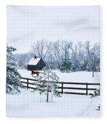 A Country Winter Fleece Blanket