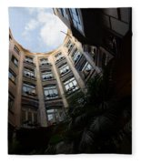 A Courtyard Curved Like A Hug - Antoni Gaudi's Casa Mila Barcelona Spain Fleece Blanket