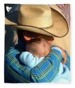 A Cowboy's Love Fleece Blanket