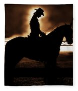 A Cowgirls Prayer Evening Ride Fleece Blanket