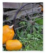 A Crop Of Pumpkins Fleece Blanket