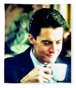 A Damn Fine Cup Of Coffee Fleece Blanket