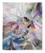 A Dance With Paint Fleece Blanket