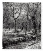 A Dash Of Snow Fleece Blanket