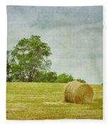 A Day At The Farm Fleece Blanket