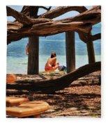 a day in the Florida Keys Fleece Blanket