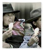 A Day Off In Tarabuco- Bolivia Fleece Blanket