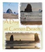 A Day On Cannon Beach Fleece Blanket