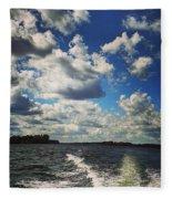 A Day On The Lake Fleece Blanket