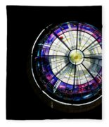 A Dazzling Stained Glass Gem Emerging From The Darkness Fleece Blanket