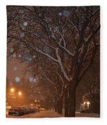 A December Night Fleece Blanket