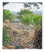 A Desert Landscape Fleece Blanket