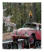 A Difference Sleigh  Fleece Blanket