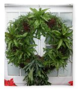 A Different Christmas Wreath Fleece Blanket