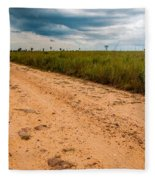 A Dirt Road In The Plains Fleece Blanket