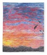A Distant Time Fleece Blanket