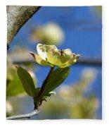 A Dogwood Blossom Fleece Blanket