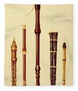 A Double Flageolet, A German Flute Fleece Blanket