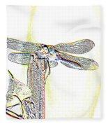 A Dragonfly In My Dreams Fleece Blanket
