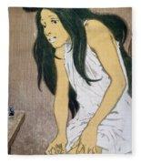 A Drug Addict Injecting Herself Fleece Blanket