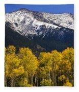 A Dusting Of Snow On The Peaks Fleece Blanket