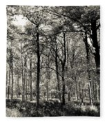 A English Forest Fleece Blanket