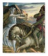 A Fairy And A Knight Fleece Blanket