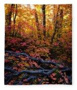 A Fall Forest  Fleece Blanket