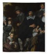 A Family Group In A Landscape Fleece Blanket