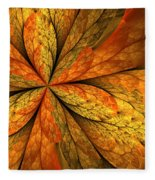 A Feeling Of Autumn Fleece Blanket
