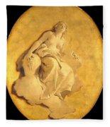 A Female Allegorical Figure Fleece Blanket