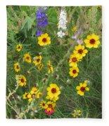 A Field Bouquet Fleece Blanket