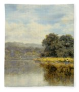 A Fine Day On The Thames Fleece Blanket