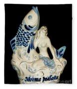 A Fisherman's Dream Russian Vodka Ceramic Bottle  Fleece Blanket