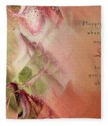 A Fleur De Peau - Happiness Quote 03 Fleece Blanket