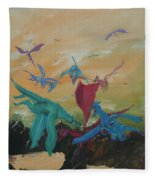 A Flight Of Dragons Fleece Blanket