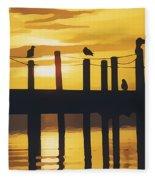 A Flock Of Seagulls Fleece Blanket