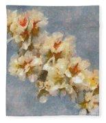 A Flourishing Cherry Branch Fleece Blanket