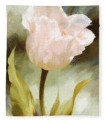 One Beautiful Flower Impressionism Fleece Blanket