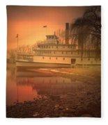 A Foggy Sunrise Fleece Blanket