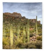 A Forest Of Saguaros  Fleece Blanket