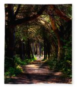 A Forest Path -dungeness Spit - Sequim Washington Fleece Blanket