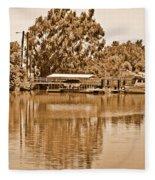 A Forgotten Delta Marina Fleece Blanket
