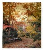 A Formal Garden Fleece Blanket