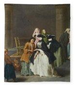 A Fortune Teller At Venice Fleece Blanket