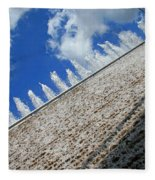 A Fountain Through A Window Fleece Blanket