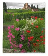 A French Country Church Fleece Blanket